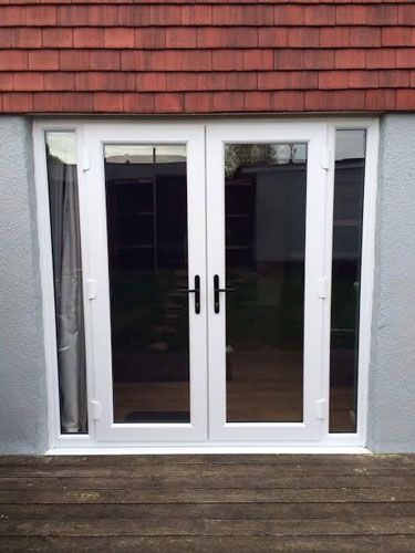 White French Doors With Side Panels Patio Windows Upvc