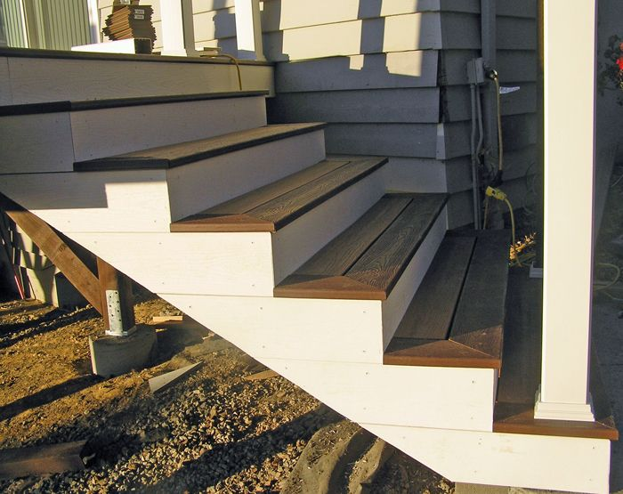 Stair Fascia Trex Stairs Deck Stairs Trex Stair Treads | Composite Exterior Stair Treads | Blocking | Indoor | Deck Trex | Picture Framing | Patio