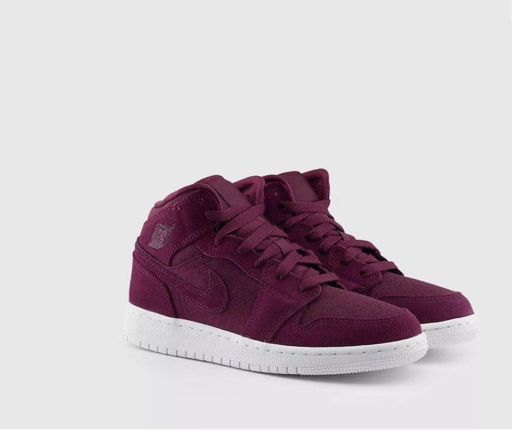 dc5106c01efd Nike YOUTH Air Jordan 1 Mid BORDEAUX SIZE 5 FITS WOMEN S 7 BRAND NEW MSRP   130  fashion  clothing  shoes  accessories  kidsclothingshoesaccs   unisexshoes ...