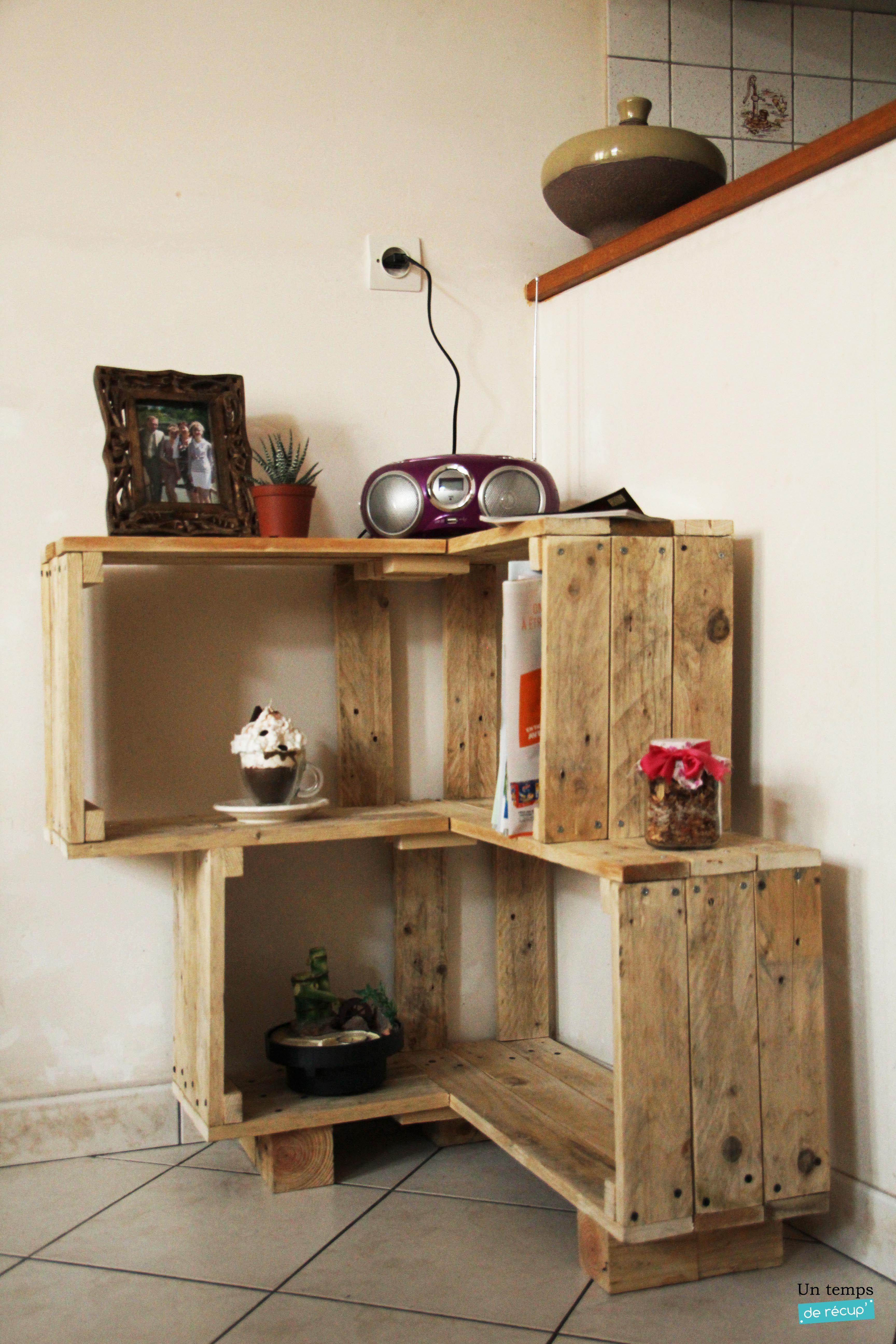 Meuble Mini Bar D Angle diy meuble d'angle en palette en bois | mobilier de salon