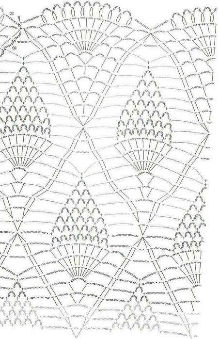 Patron Crochet Chaleco largo - Patrones Crochet | diagramas ...