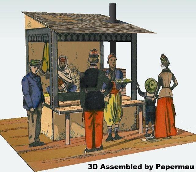 PAPERMAU: The Arabian Bread Merchant