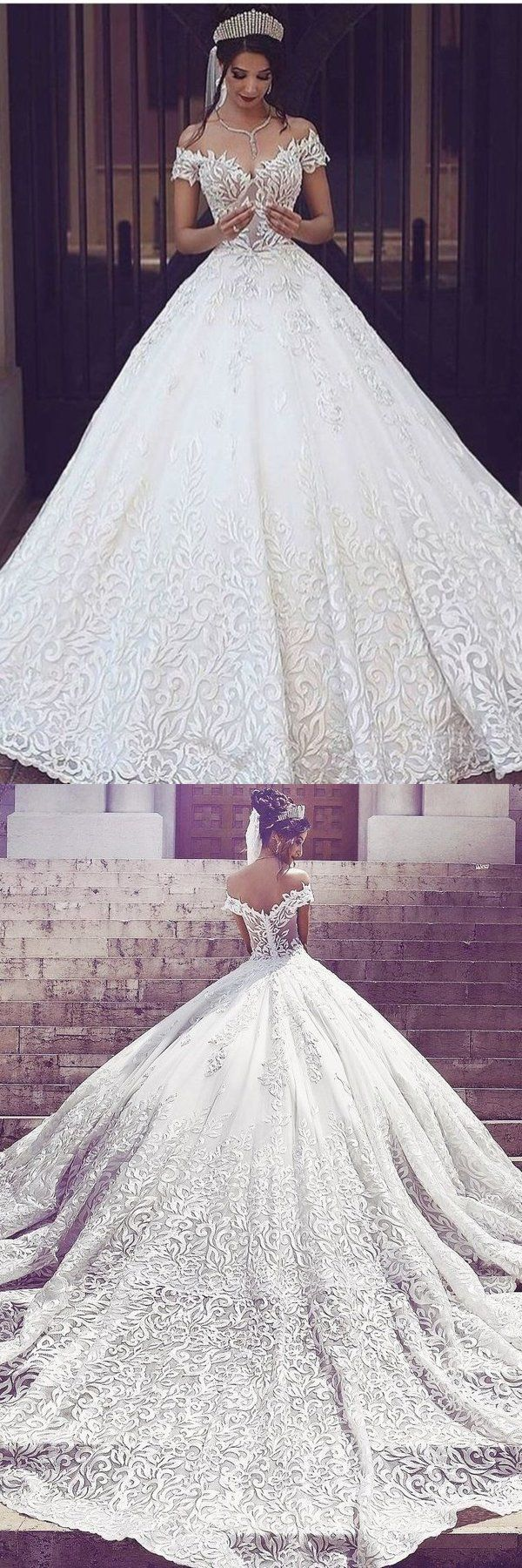 Photo of 2019 Off The Shoulder A Line Wedding Dresses With