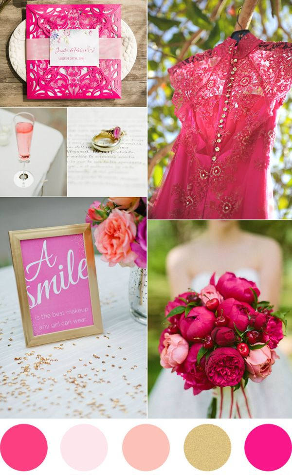6a39a1740436 TOP 7 Amazing Pink And Gold Wedding Color Palettes   Wedding ...