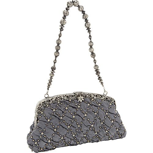 Moyna Handbags Antique Purse Charcoal Pewter Evening Bags