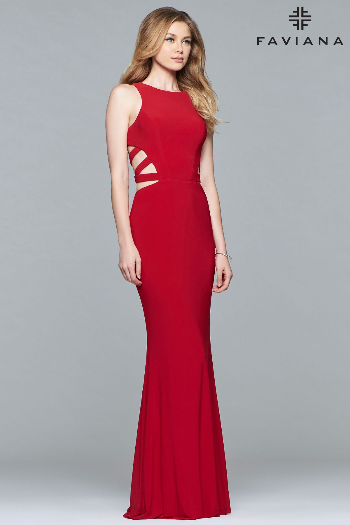 Be a star in this unique prom dress faviana is a long jersey