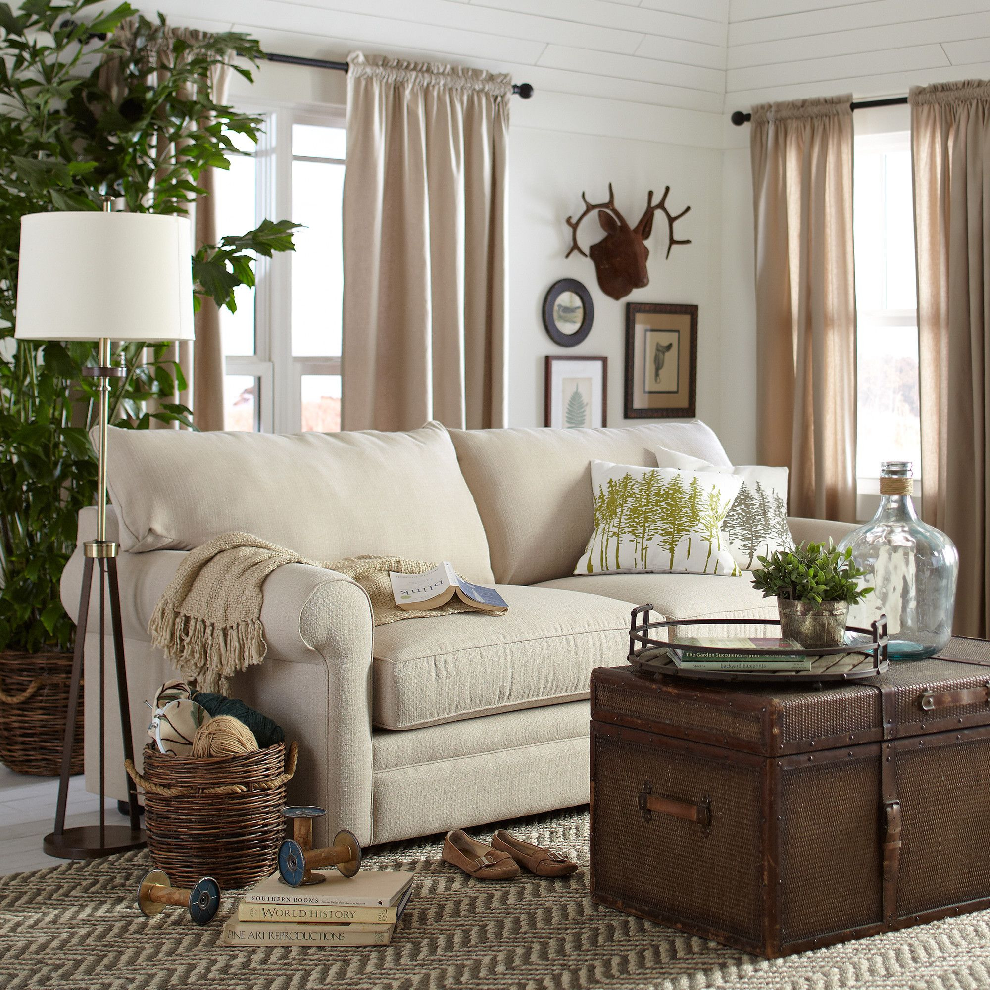 Newton 89 Sofa Coastal Style Living Room Farm House Living