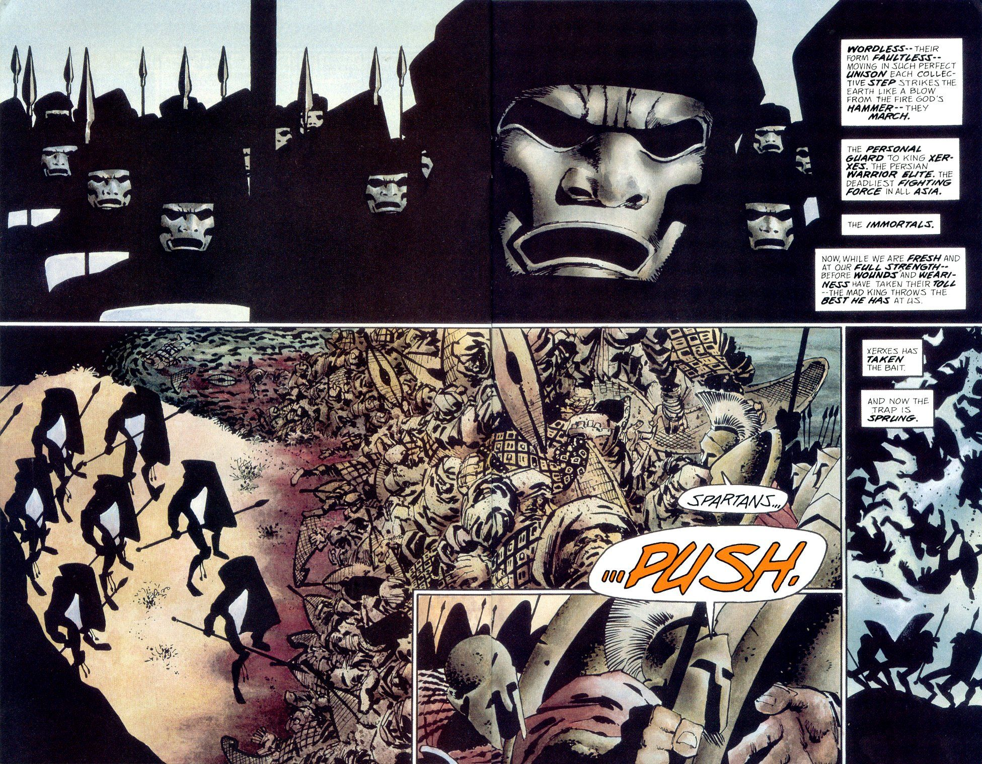 frank miller 300 | ... Post : First 300 trailer captures compared ...