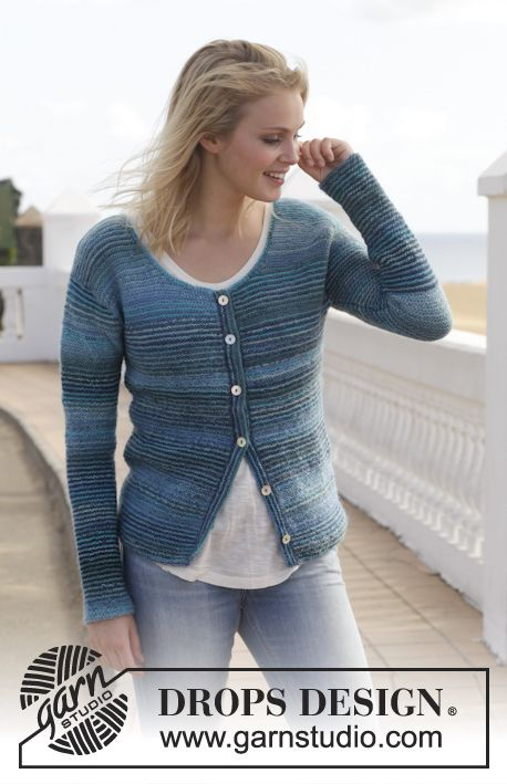 153- 7, Knitted jacket in garter st in Fabel and Delight