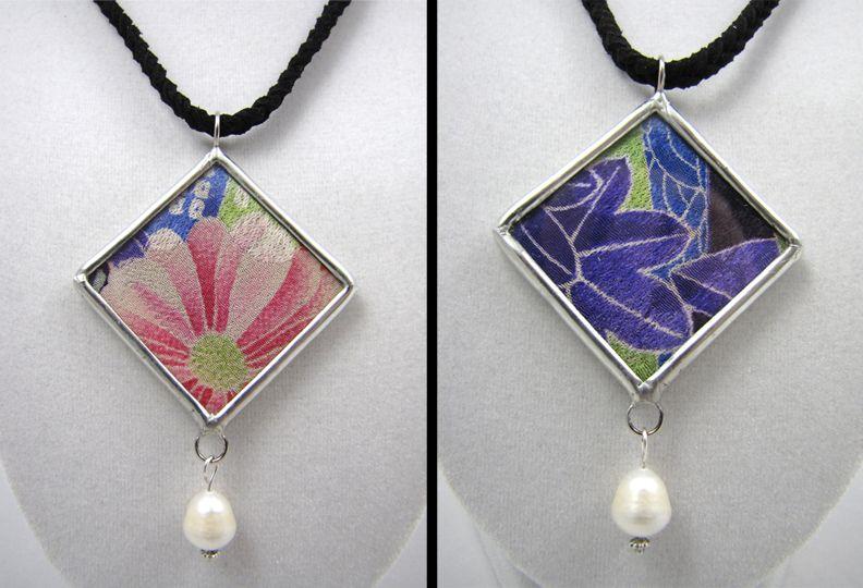 SOLD: Antique Japanese Silk Pendant Commission 3.05.2012 by sharrashina.deviantart.com on @deviantART