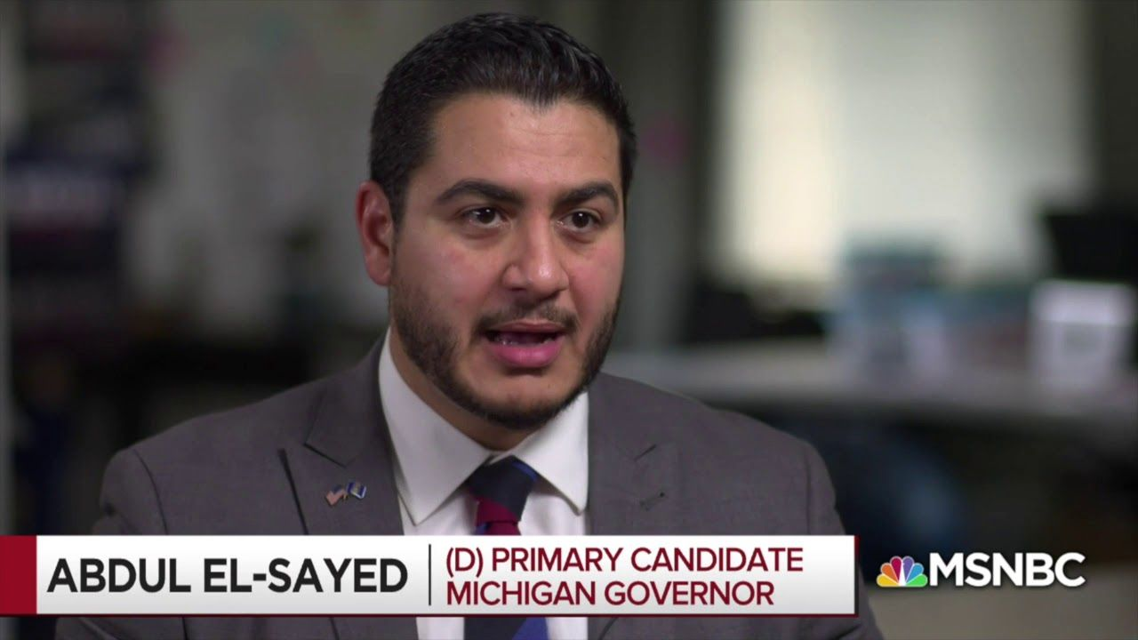 All In With Msnbc S Chris Hayes Abdul For Governor Michigan Gov Youtube Governor