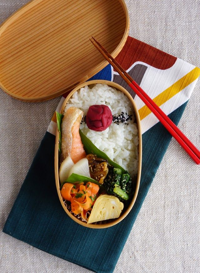 R journal: 鮭弁当・Grilled salmon bento.