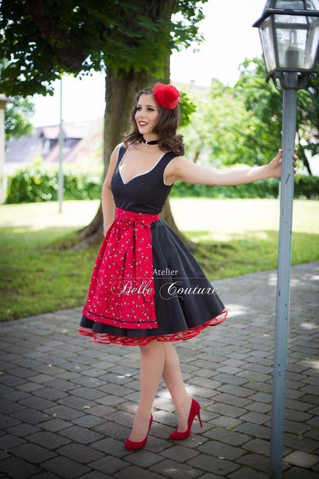 a0783bc1bec359 Entdecke lässige und festliche Kleider: 50er Jahre Rockabilly Dirndl made  by Atelier Belle Couture 50er Jahre Petticoatkleider Rockabilly Kleider via  ...