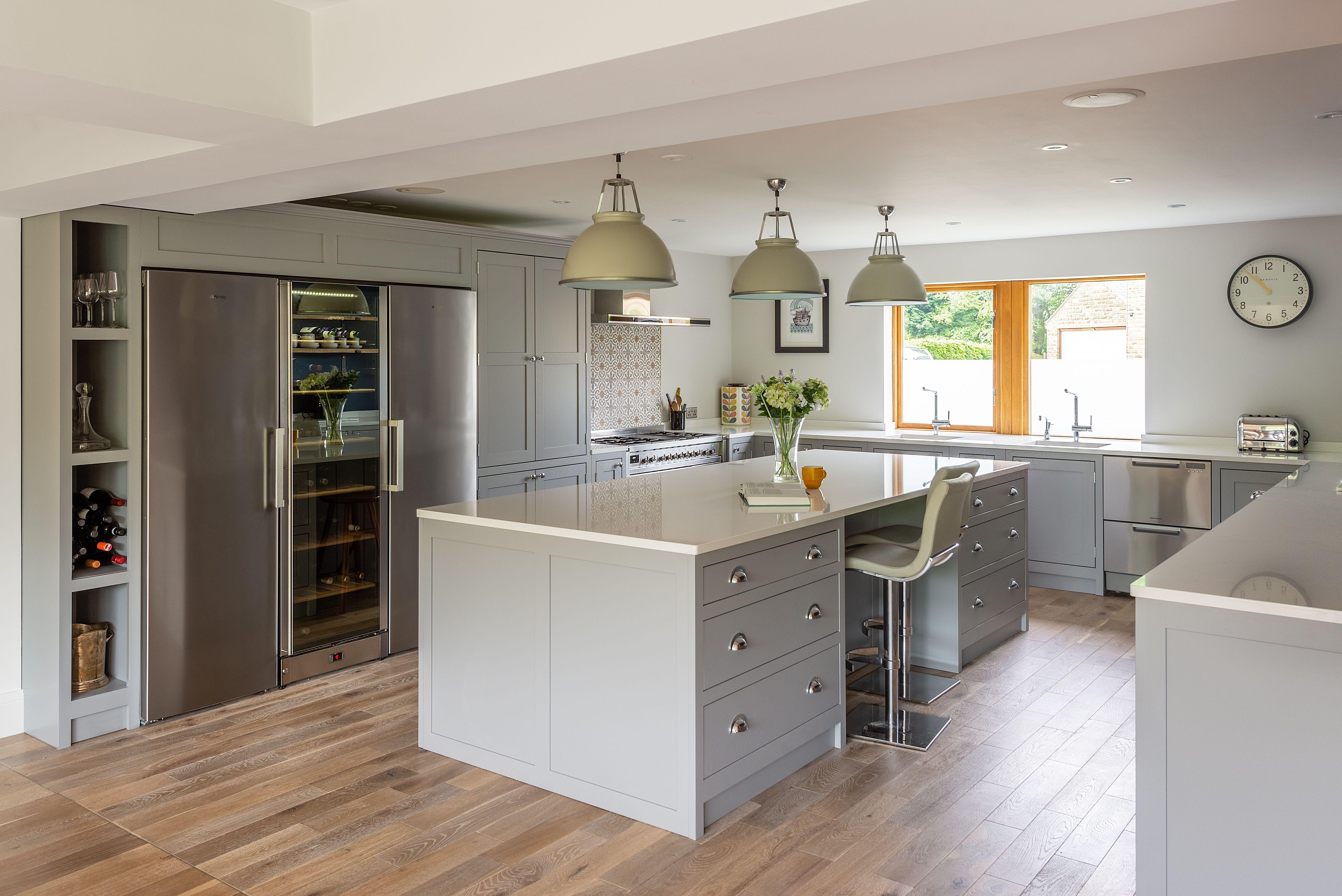 American fridge freezer | Shaker style kitchens, Shaker ...
