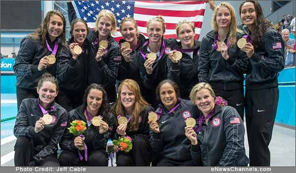 "eNewsChannels COLUMN: October's launch of the UN's Girl Empowerment Initiative, and revelation that three Native American women represented the U.S. and their Indian Nations at London's Olympics, are creating ripples of hope and prosperity for depressed Nations in the U.S. and around the world. PHOTO Caption (above): ""I will always love this team,"" said Tumua (far right) of her Gold Medal, undefeated U.S. Olympic Water Polo Team in London. Credit: Jeff Cable."