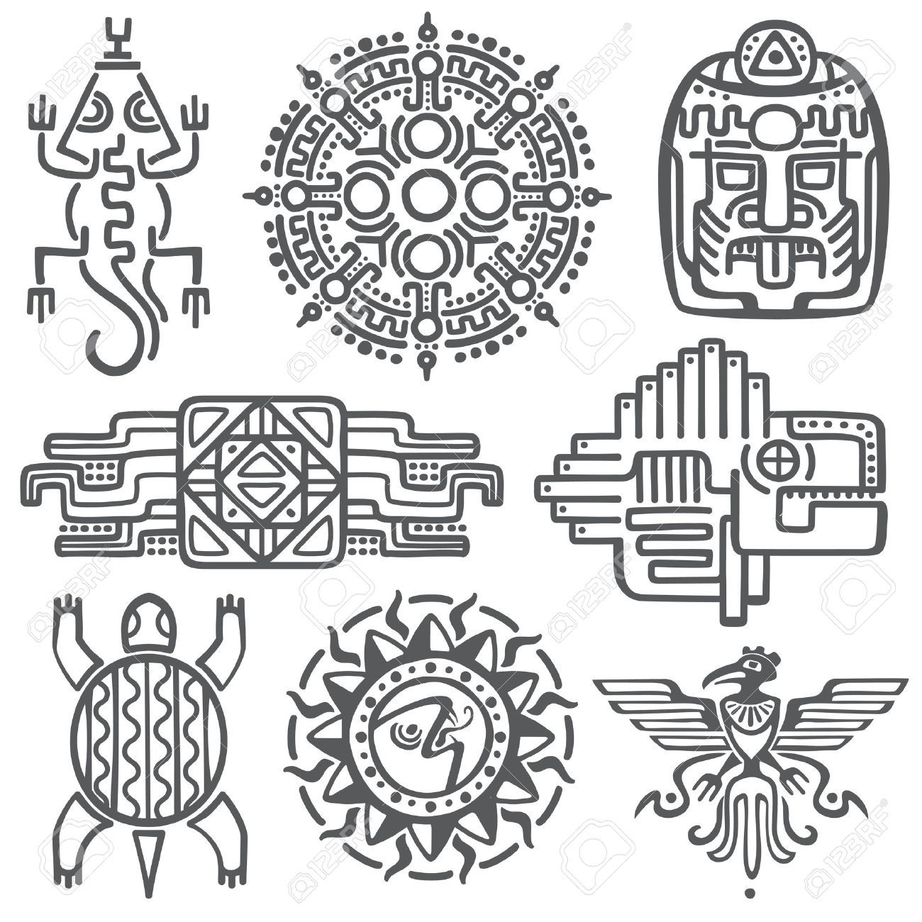 Image Result For Mayan Symbols And Meanings Lettering Pinterest