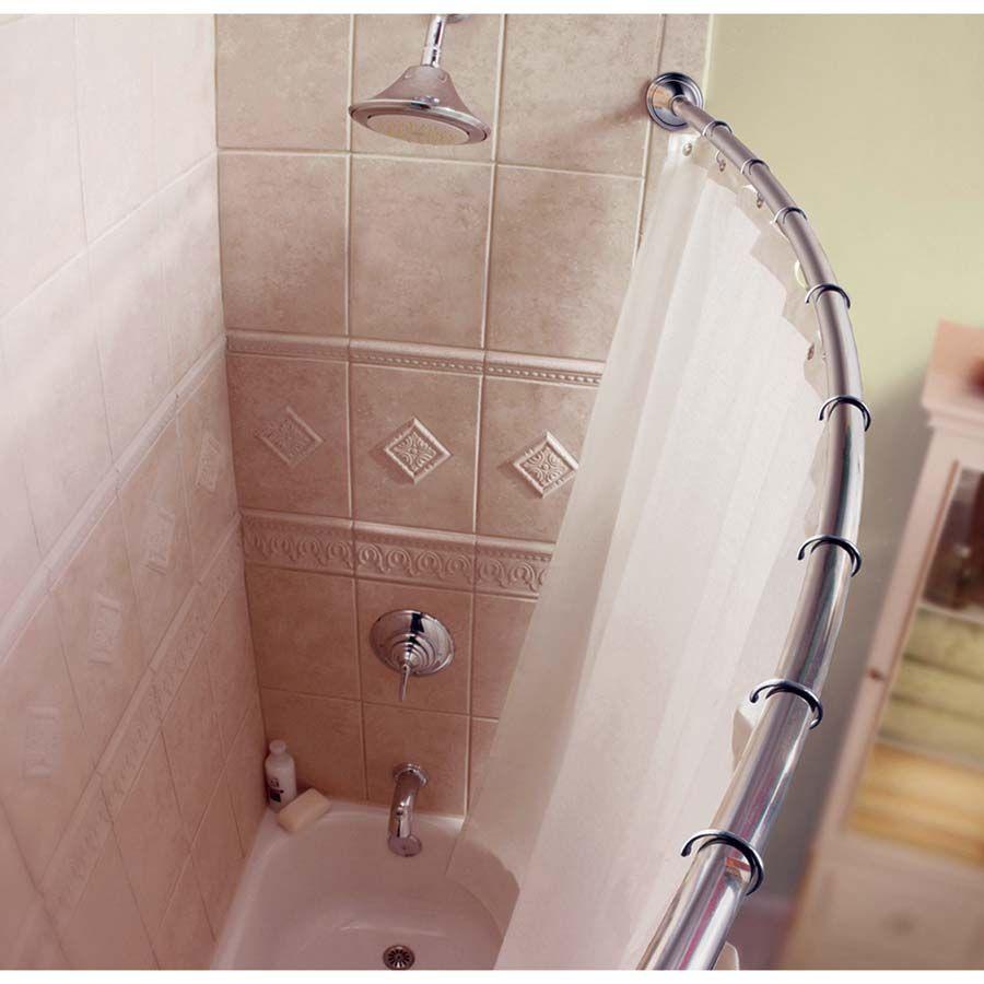 Image result for semi circle shower curtain corner | Bathroom ...