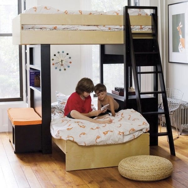 This has cool features & all, but really, it needs to go against a wall or 2 in most homes. uffizi bunk bed by argington at fawn - fawn