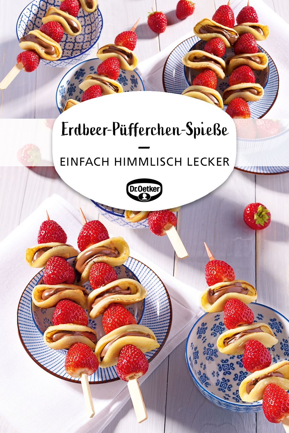 Erdbeer-Püfferchen-Spieße #strawberrylemonaderecipes