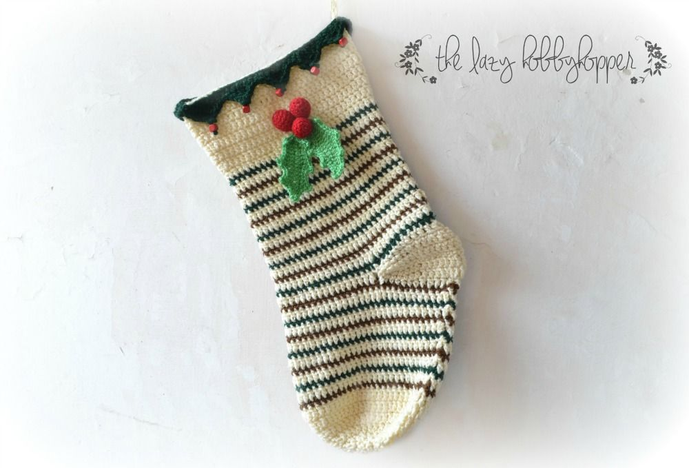 The Lazy Hobbyhopper: Christmas stocking - new pattern | The lazy ...