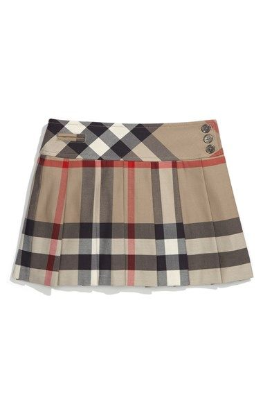 b9e5f6f42 Free shipping and returns on Burberry Check Print Skirt (Little Girls & Big  Girls) at Nordstrom.com. Signature checks define a perfectly pleated skirt  ...