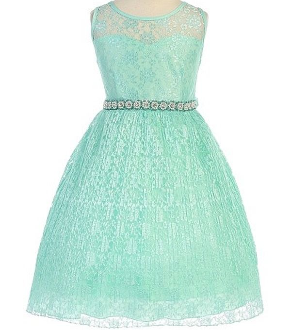 Alina - Lace Flower Girl Dress in Mint | Plus Size Girls Dresses ...