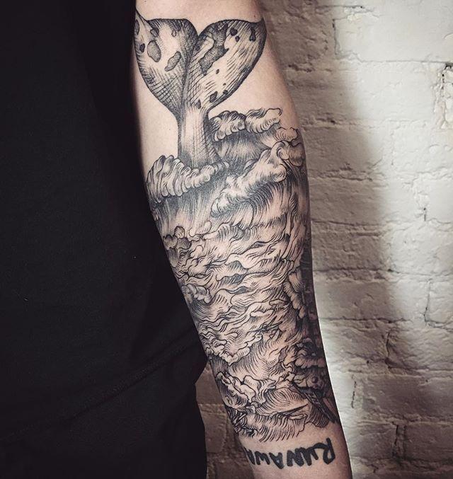 Instagram Photo By Teg Dlya Rabot Lescrow Jan 22 2016 At 2 32pm Utc Arm Tattoo Tattoos Ocean Sleeve Tattoos