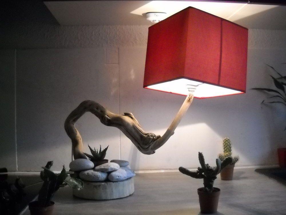lampe bois flotté Lamps Lighting Pinterest