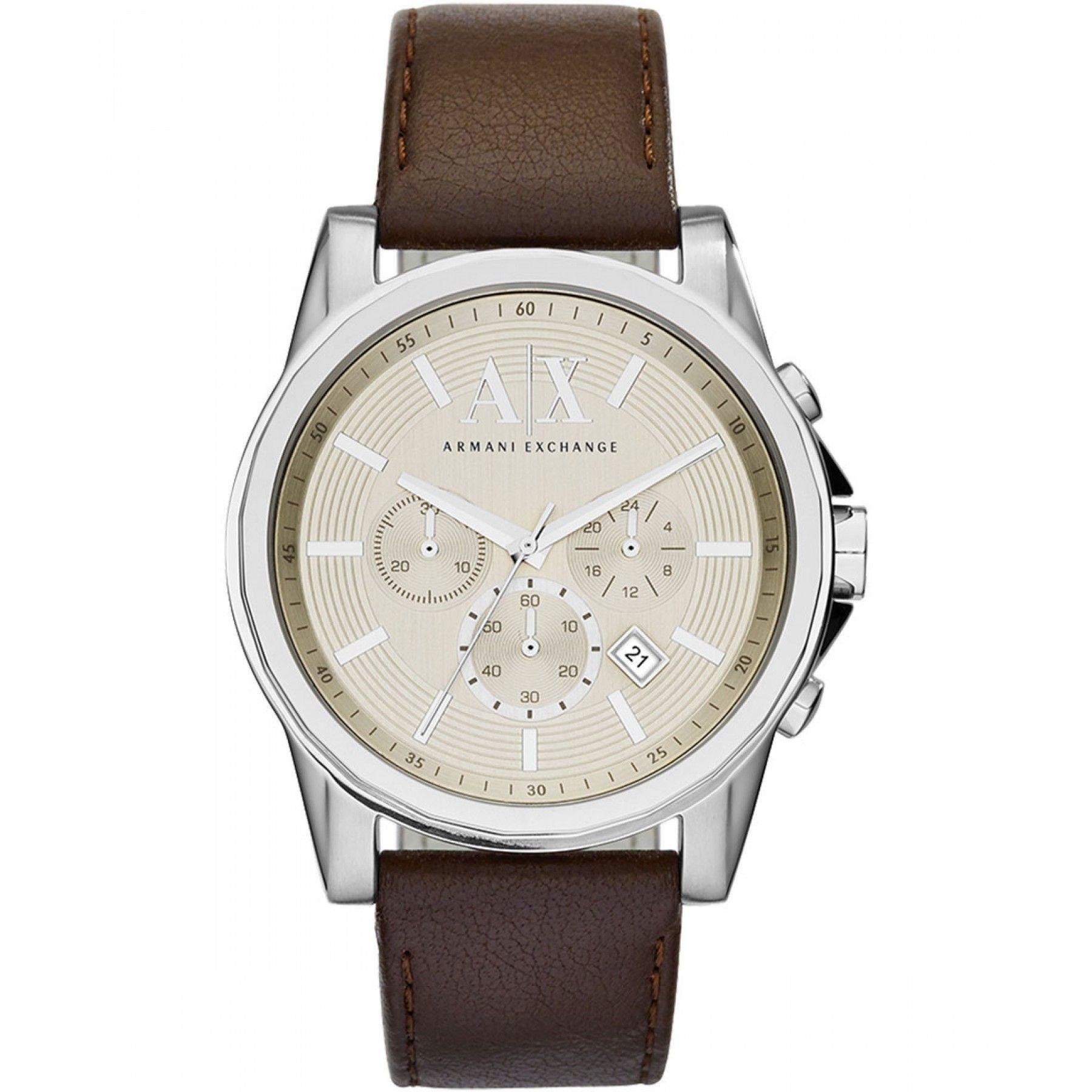 49c239fb9d78 Reloj Armani Exchange con caja y bisel de acero inoxidable en tono plata  extensible de correa