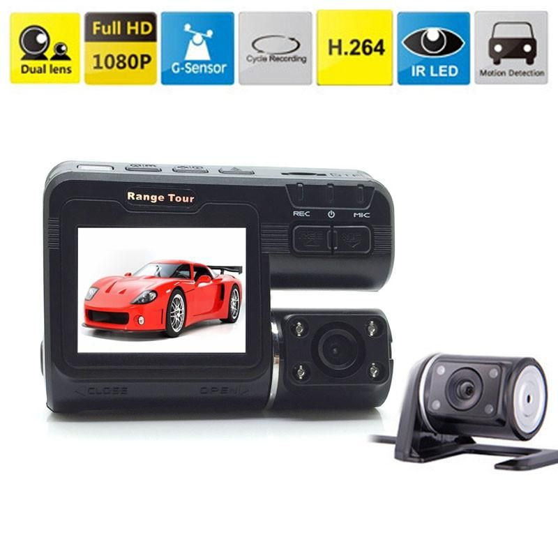 Full HD 1080P Dual Lens Car DVR Dual Camera Car Video Recorder i1000 Dash Cam