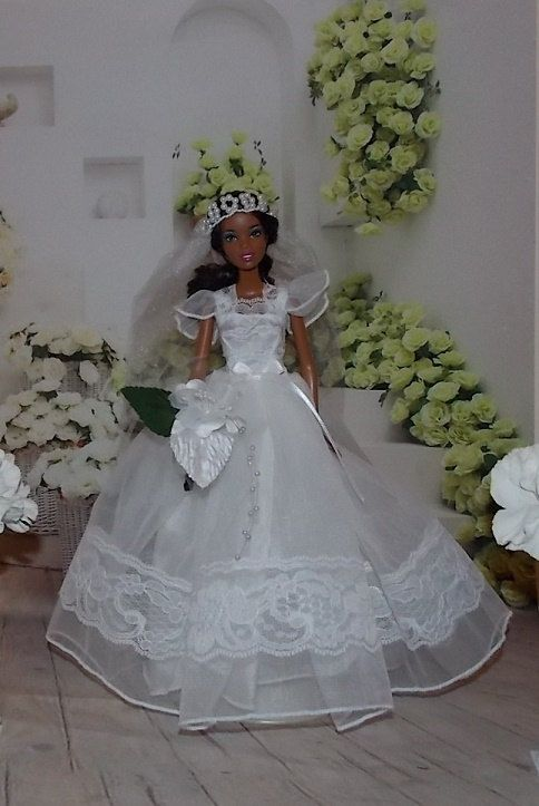 Handmade Barbie Wedding Dress with Small by MySweetDollBoutique