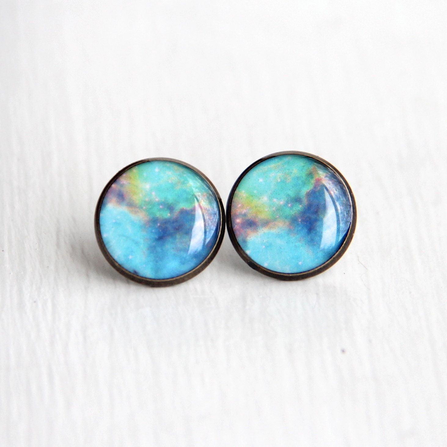 Nebula Jewelry, Space Earrings, Large Stud Earrings, Nerdy ...