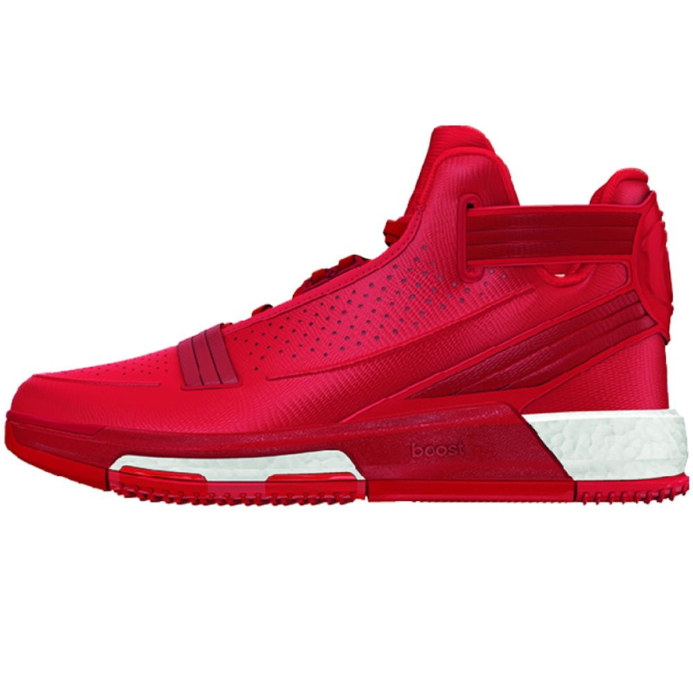 bf0a3449c558 Adidas D Rose 6 Boost Mens Basketball Shoe Scarlet-Black  Adidas   BasketballShoes