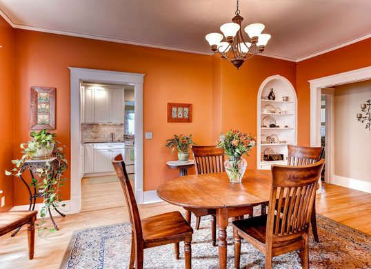 10 Color Mistakes Everyone Makes Orange Dining Room Dining Room