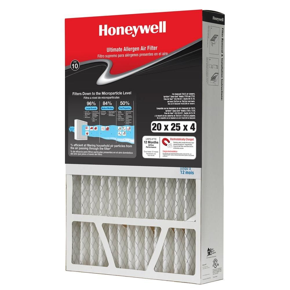 Honeywell 20 In X 25 In X 4 In Fpr 10 Air Cleaner Filter Electrostatic Air Filter