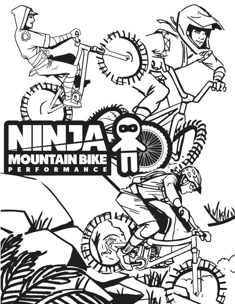 Mountain Bike Coloring Pages on a budget