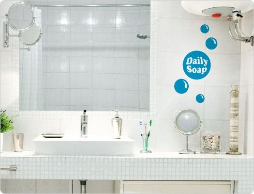 Wandtattoo Daily Soap Bad  Beauty Wandaufkleber Pinterest - Wandtattoos Fürs Badezimmer
