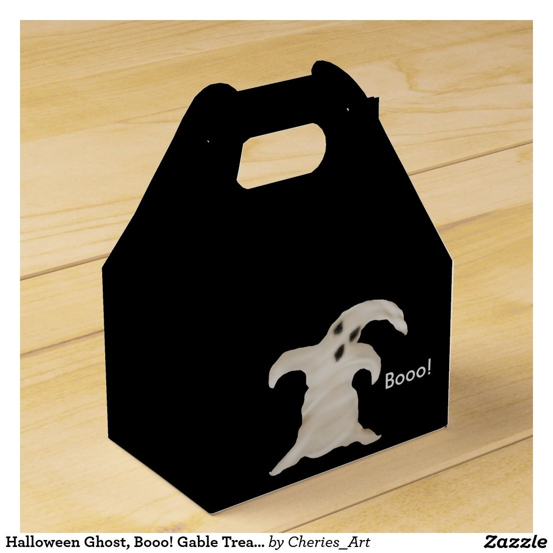 Halloween Ghost Booo Gable Treat Box Party Favor Boxes
