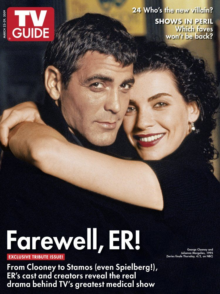George Clooney And Julianna Margulies Of Er