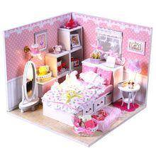 Diy Hölzernes Puppenhaus Modelle Möbel Licht Modellbau Kits Miniatur  Puppenhaus Puzzle Spielzeug Mädchen Geschenke Puppe Haus