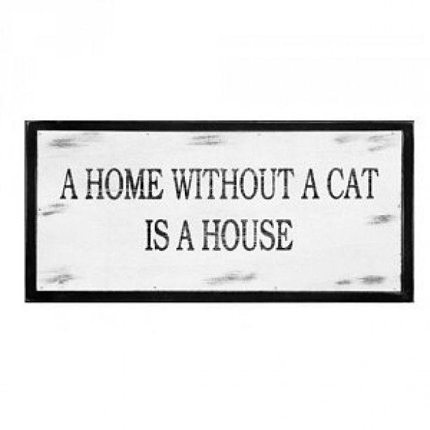 tekstbord voor kattenliefhebbers