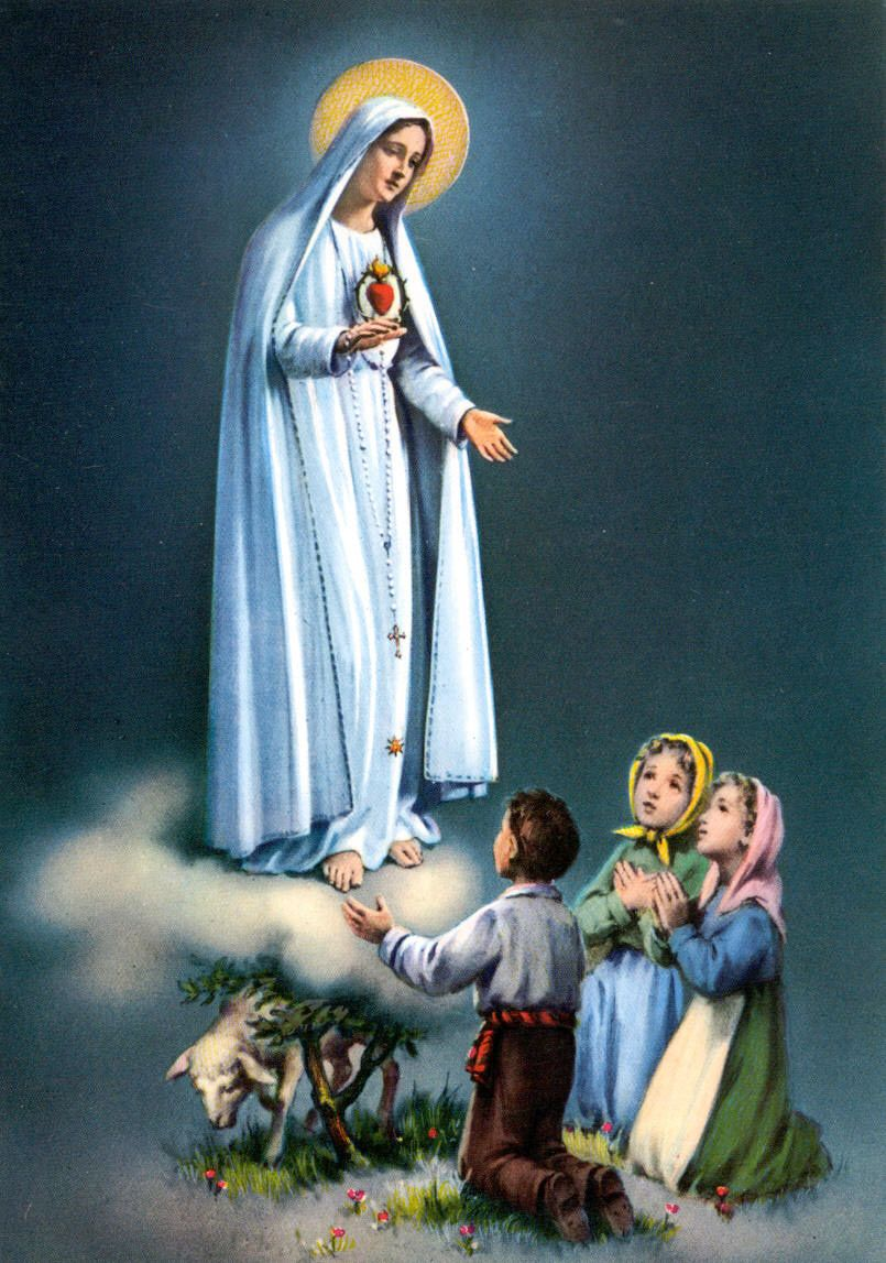 Our Lady Of Fatima With Images Lady Of Fatima