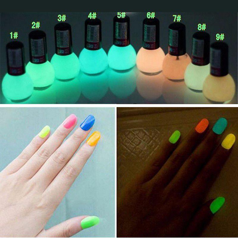 Brand Non-toxic Neon Fluorescent Luminous Gel Nail Polish Matte Nail ...