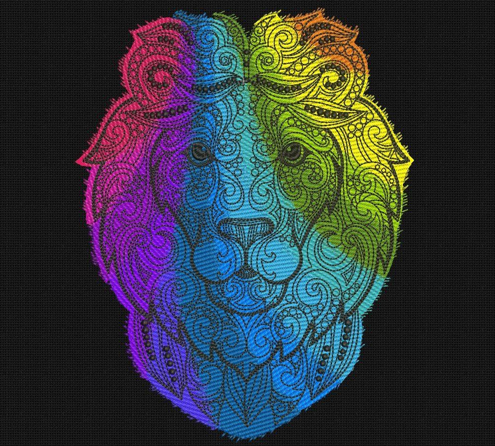 Machine Embroidery Design Animal Lion 8x11 in INSTANT