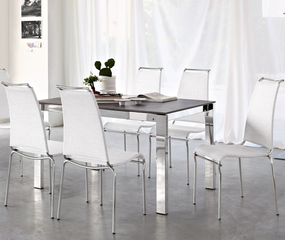 Calligaris Juliet Leather Dining Chair   Chrome Legs | Chaises   Chair |  Pinterest | Dining Chairs, Chrome And Modern