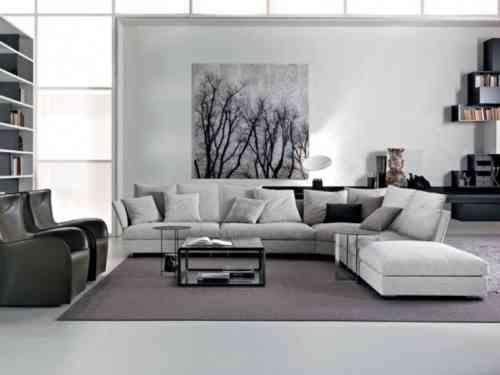 Déco salon gris et blanc  28 modèles élégants Salons, Living