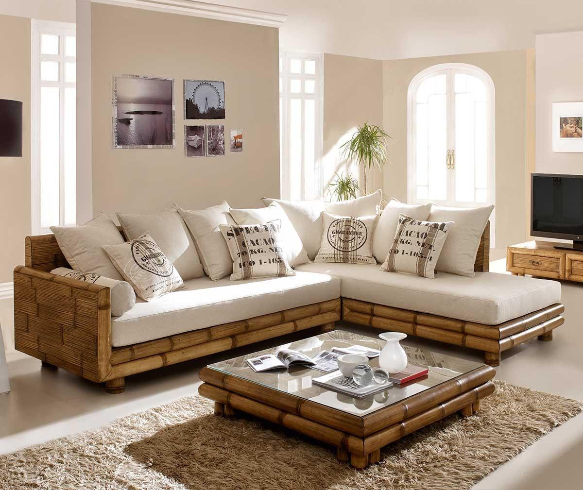 Salon d\'angle bambou, finition antique, Zen en 2019 | Maison deco ...