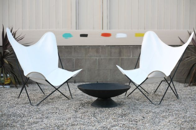 Mid Century Butterfly Chair Cover Sources Outdoor Fabric White Firepit  Backyard