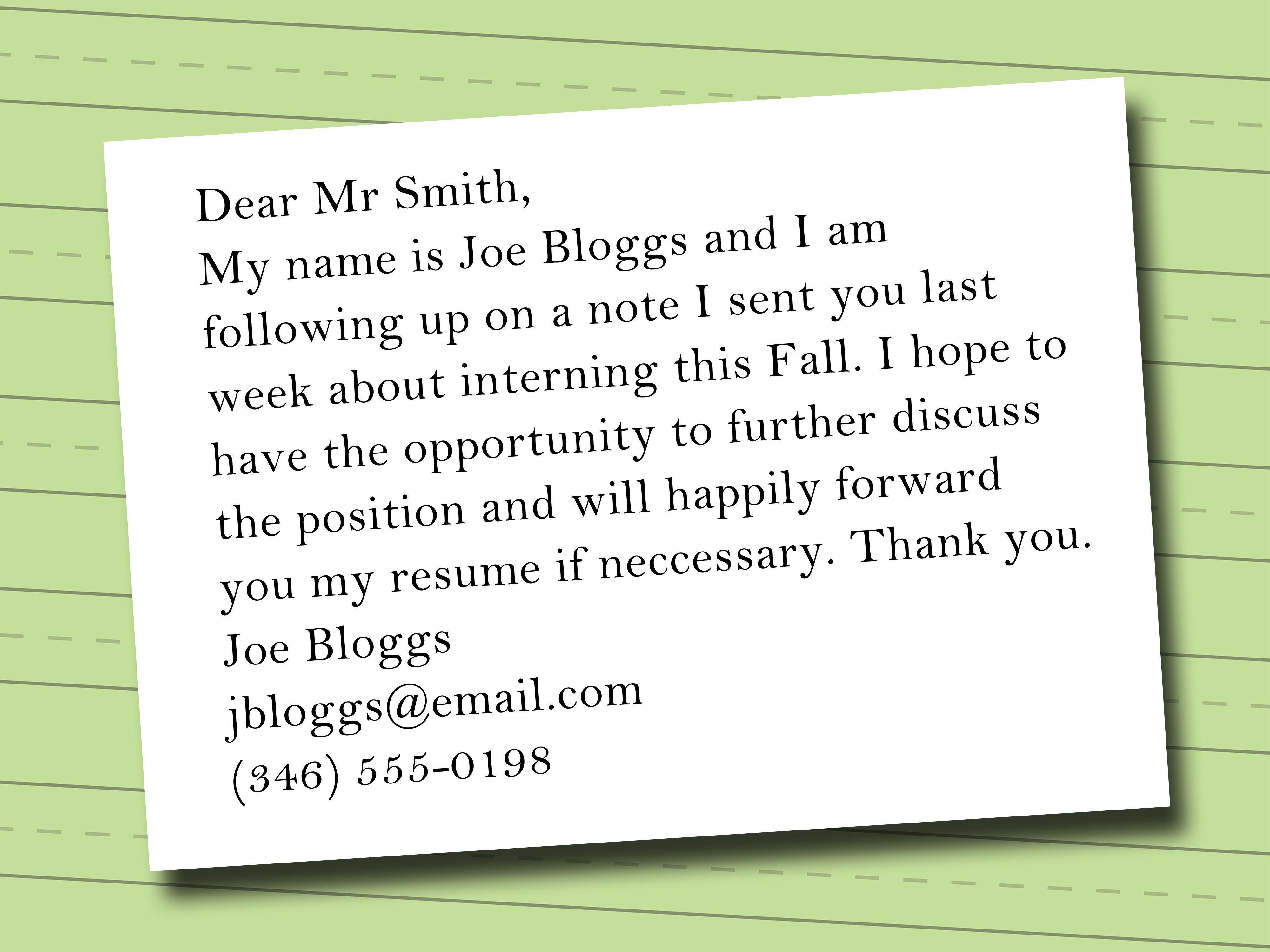Write An Email Asking For An Internship Internship Tips