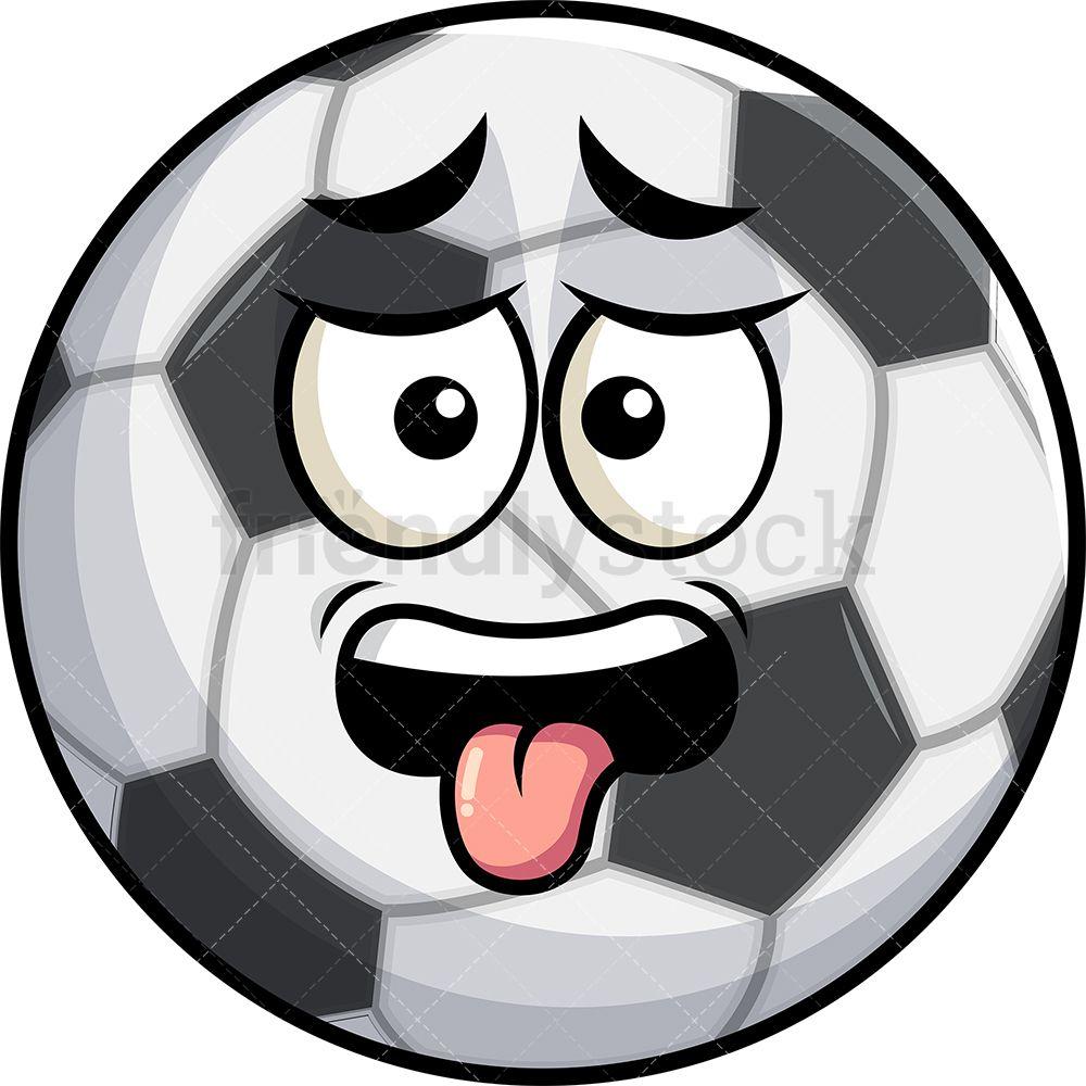 Disgusted Soccer Ball Emoji Cartoon Clipart Vector Friendlystock Cartoon Clip Art Emoji Clipart Emoji